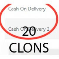 20 клонов оплаты при доставке (cod)