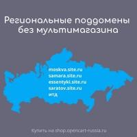 Региональные поддомены без мультимагазина (170 штук + неограничено)