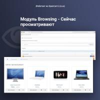 Модуль Browsing - Сейчас просматривают