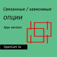 Связанные / зависимые опции Opencart 3.x