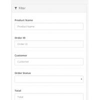 Заказы: Колонки почта, телефон. Фильтр по товару