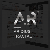 Адаптивный, многомодульный шаблон Aridius Fractal