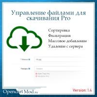 Управление файлами для скачивания Pro