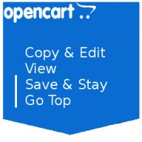 Copy and Edit, Save and Stay, Go top