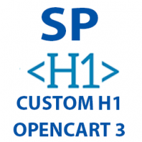 Opencart 3 Custom H1 Products, Categories, Information pages