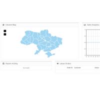 Карта Украины с регионами для openCart 2