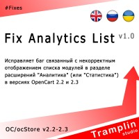 TS Fix Analytics List v1.0