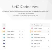 UniQ SideBar - мультифункциональное меню